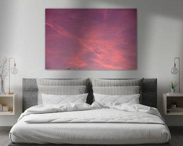 De roze lucht waar iedereen van houdt. van Sanne Van der avoird