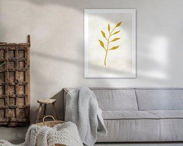 Impression rustique Feuille d'or sur MDRN HOME