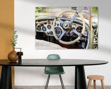 Bentley 4 Liter Compressor klassiek klassiek Brits autodashboard van Sjoerd van der Wal