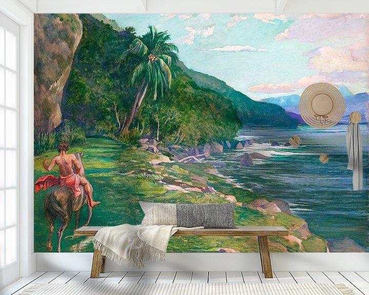 Beispiel fototapete: Ein Zaumpfad in Tahiti, John LaFarge