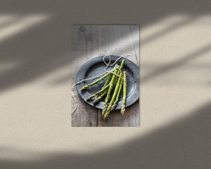 Sfeerimpressie: 12306431 Verse asperge op een tinnen schaal van BeeldigBeeld Food & Lifestyle