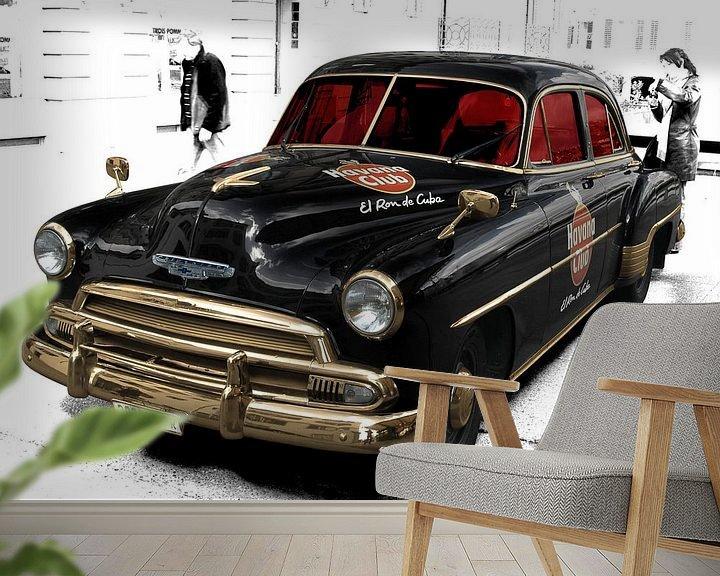 Beispiel fototapete: Chevrolet Deluxe with Havana Club von aRi F. Huber
