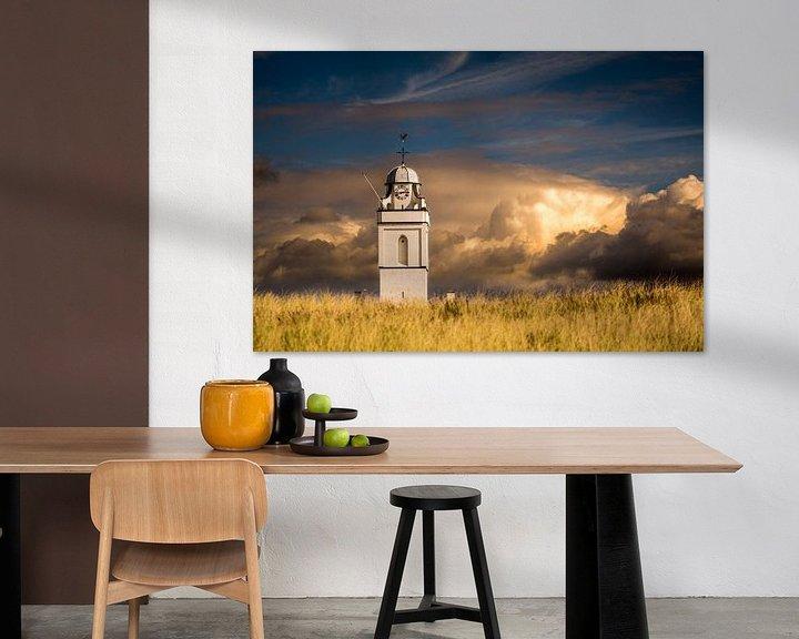 Beispiel: Weiß / Alte Kirche Katwijk von Peter Sneijders