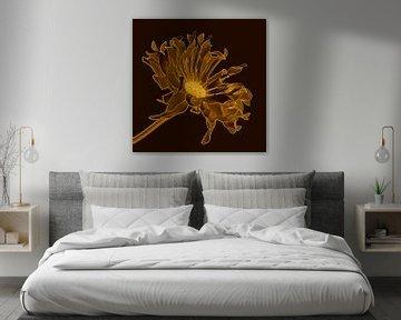 Gouden gerbera van Lida Bruinen
