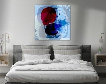 Modern art blue