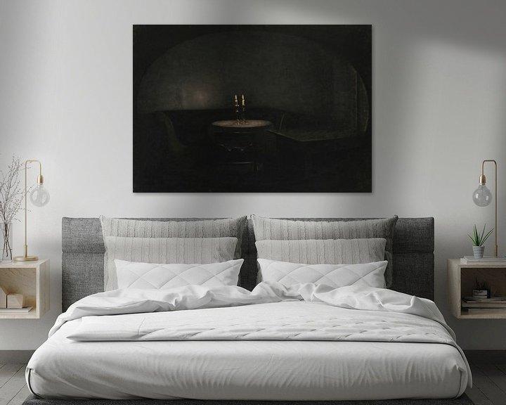 Beispiel: Inneres. Künstliches Licht, Vilhelm Hammershøi