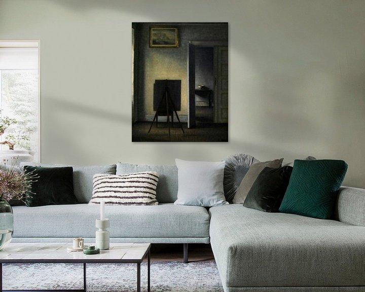 Beispiel: Innenraum mit der Künstlerstaffelei, Vilhelm Hammershøi