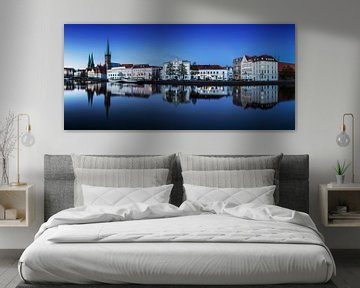 Lübeck Skyline an der Trave von Frank Herrmann