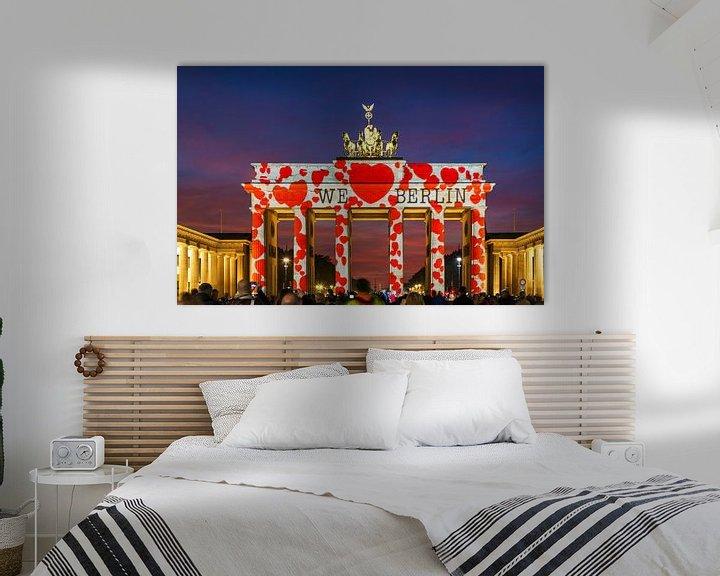 Sfeerimpressie: Brandenburger Tor met speciale verlichting van Frank Herrmann