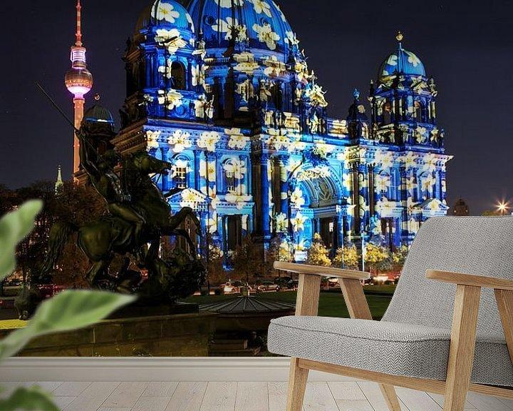 Sfeerimpressie behang: Berlijnse Dom in een bijzonder licht van Frank Herrmann