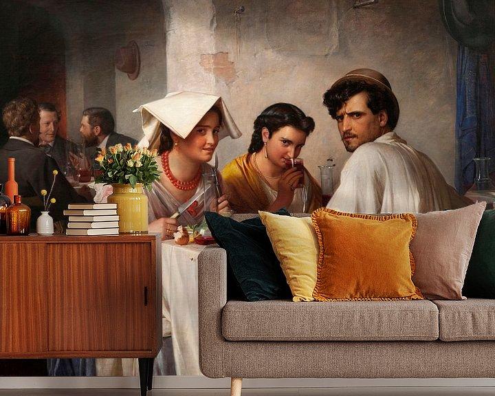 Beispiel fototapete: In einer römischen Osteria, Carl Bloch