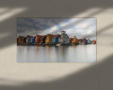 Ein Foto des ikonischen Reitdiephavens in Groningen von Vincent Alkema