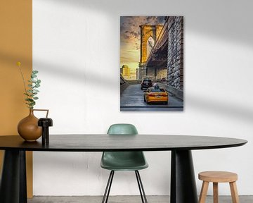 Yellow Cab Brooklyn bridge