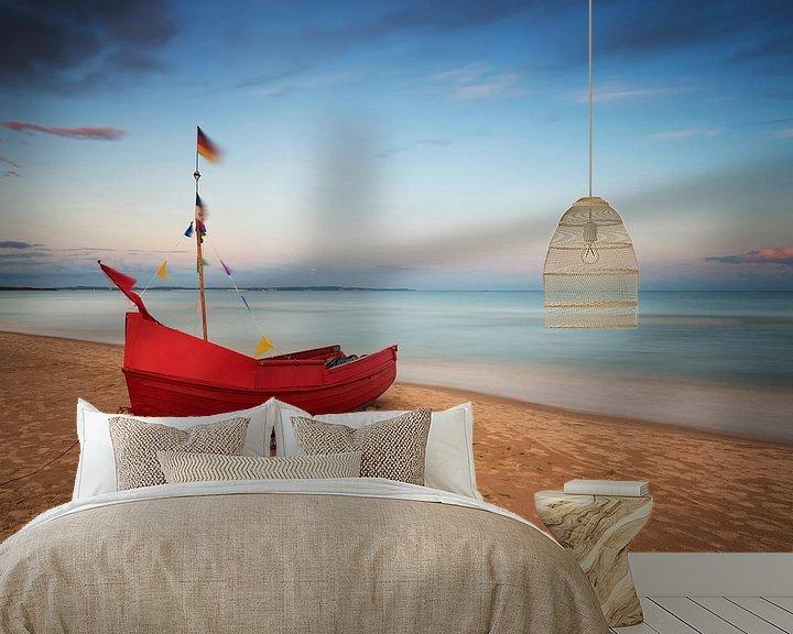 Beispiel fototapete: Fischerboot am Strand von Frank Herrmann