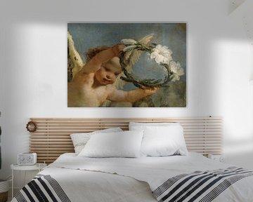 Engel mit Lilienkrone