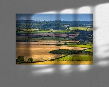 Landschap van Shaftesbury in Dorset, Engeland van Henk Meijer Photography