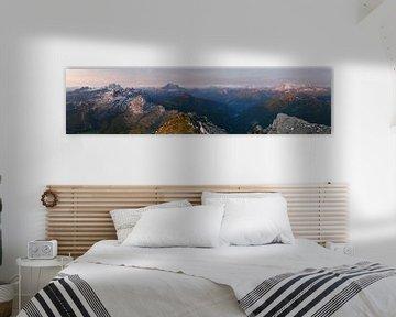 Alpen Panorama van Frank Peters
