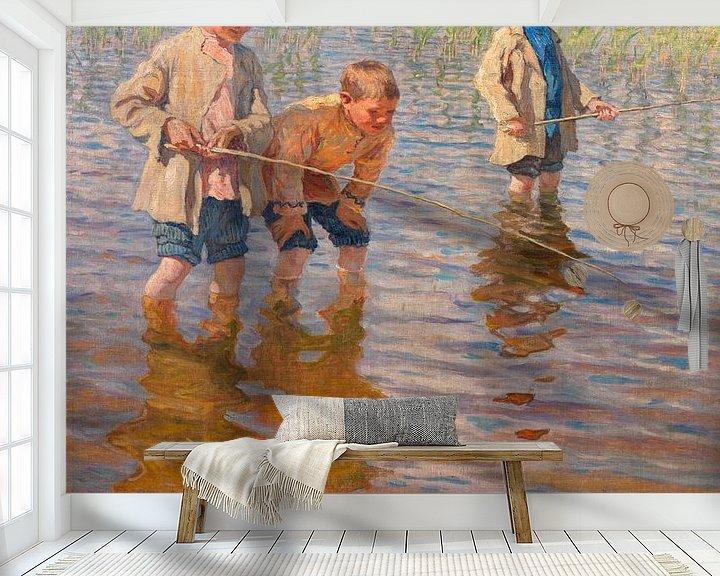 Beispiel fototapete: Mittagsfischen, Nikolai Bogdanov-Belsk