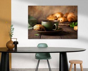 Groene kop thee met minichocoladebroodje van Iryna Melnyk