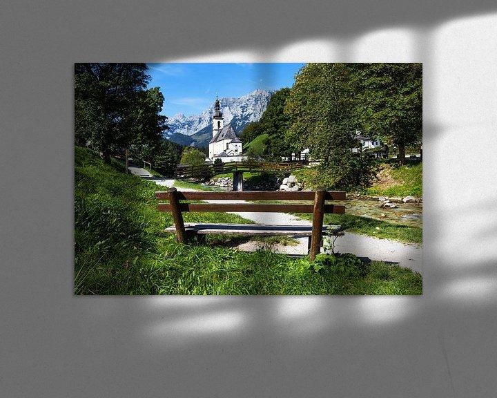 Impression: Ramsau Malerwinkel et l'église locale de Saint-Sébastien, mondialement connue, près de Berchtesgaden sur Frank Herrmann