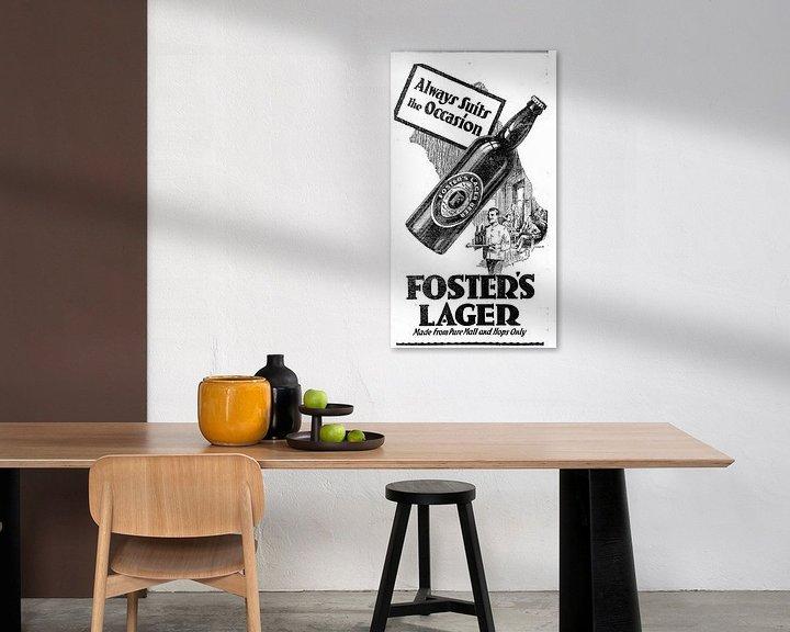 Beispiel: Bierwerbung von Foster Lager aus dem Jahr 1932 von Atelier Liesjes