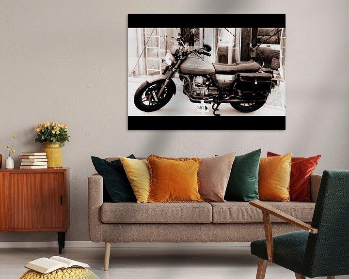 Sfeerimpressie:  Moto Guzzi van Nicky`s Prints