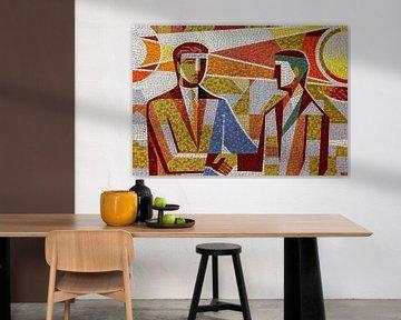 farbiges Mosaik von Corrie Ruijer
