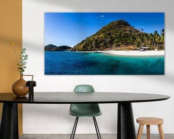 Prachtig wit strand in de Filipijnen van Yvette Baur