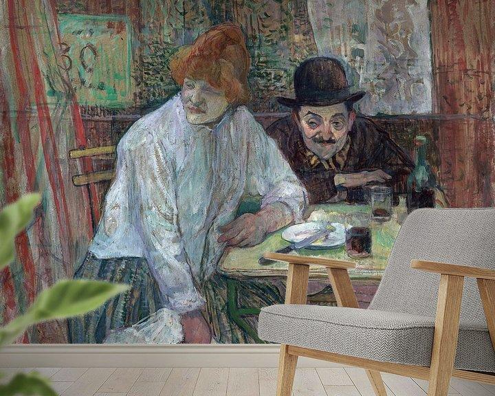 Beispiel fototapete: Im Café La Mie, Henri de Toulouse-Lautrec - 1891