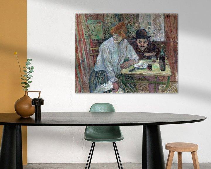 Beispiel: Im Café La Mie, Henri de Toulouse-Lautrec - 1891