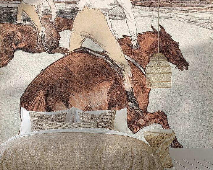 Beispiel fototapete: Der Jockey, Henri de Toulouse-Lautrec - 1899