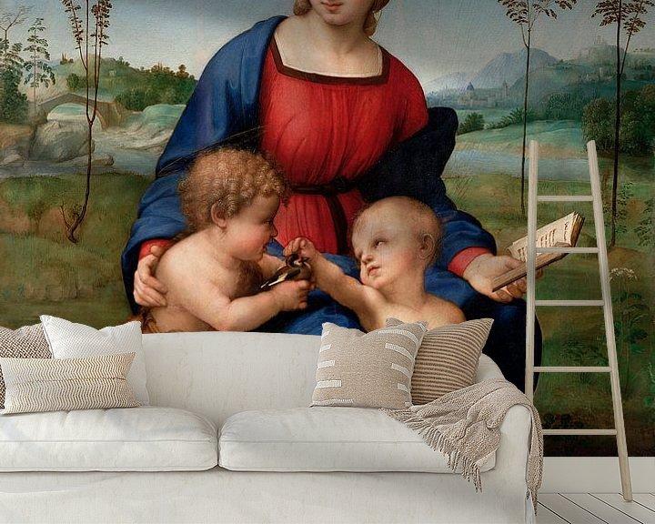 Beispiel fototapete: Madonna des Stieglitzers, Rafaël