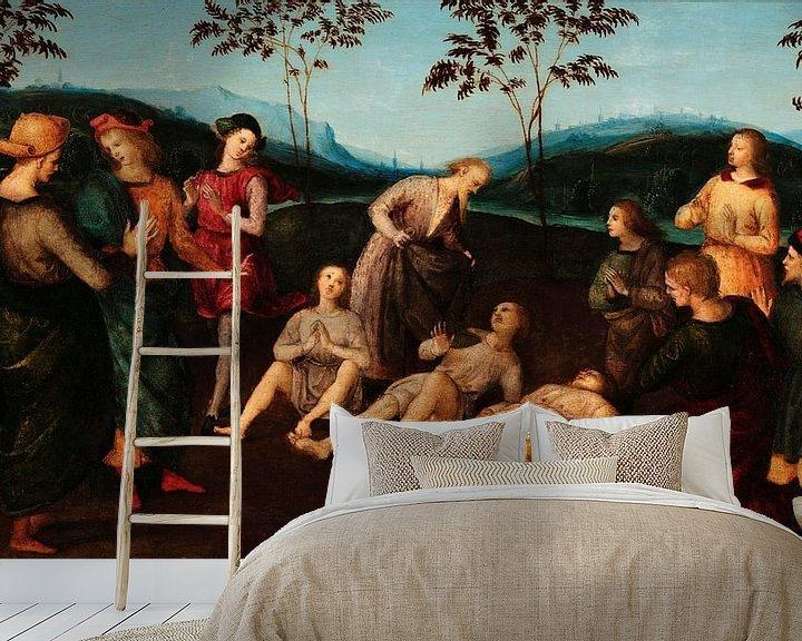 Beispiel fototapete: Das Wunder des heiligen Eusebius von Cremona, Rafaël