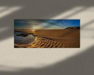 Golden Beach in Cornwall (Mawgan Porth) van Silvio Schoisswohl