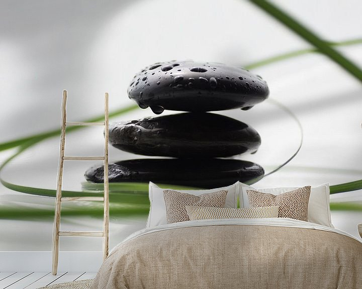 Sfeerimpressie behang: Spa stenen van Tanja Riedel