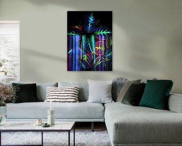 Tropische Neon-Blätter I von The Art Kroep