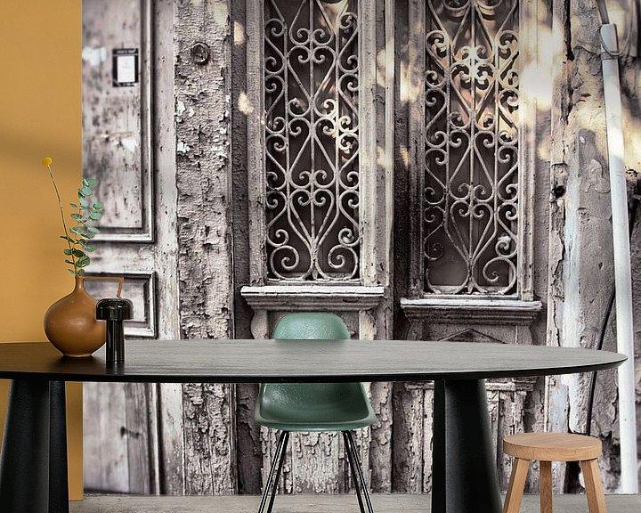 Beispiel fototapete: Alte weiße Türen von Dick Carlier
