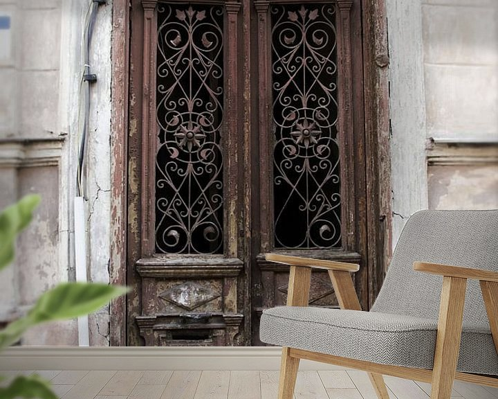 Beispiel fototapete: Alte braune Türen von Dick Carlier