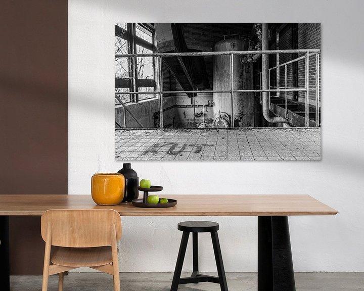 Beispiel: Verlassener Standort in schwarz-weiß von Anjo ten Kate