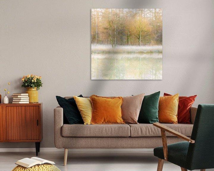 Sfeerimpressie: Winterse reflecties (olieverf) van Karla Leeftink
