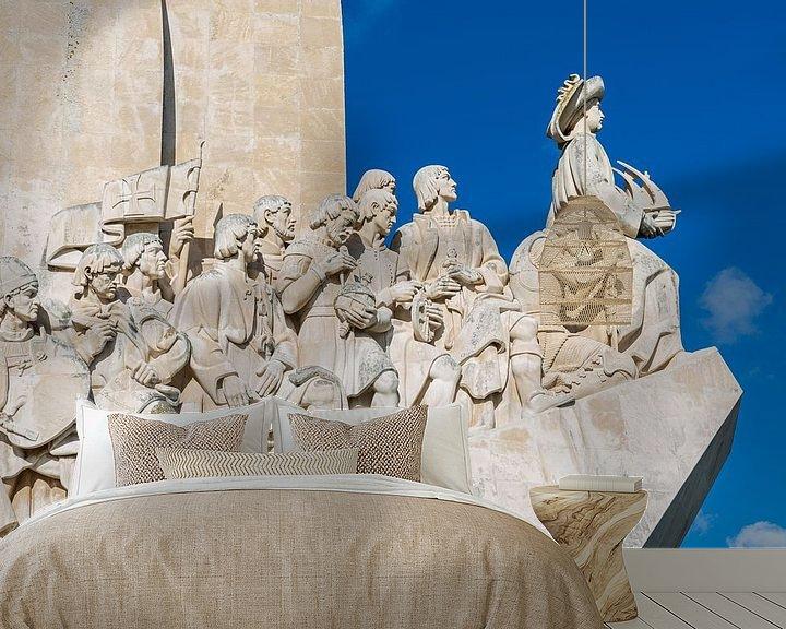 Sfeerimpressie behang: Het monument Padrão dos Descobrimentos in Belém in Lissabon  in Portugal van MS Fotografie | Marc van der Stelt