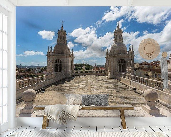 Sfeerimpressie behang: Het klooster São Vicente de Fora in Lissabon in Portugal van MS Fotografie | Marc van der Stelt
