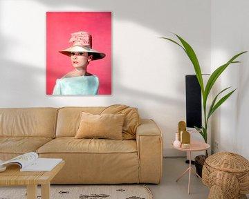 """Audrey Hepburn in """"Funny Face"""" (Lustiges Gesicht) von Bridgeman Images"""