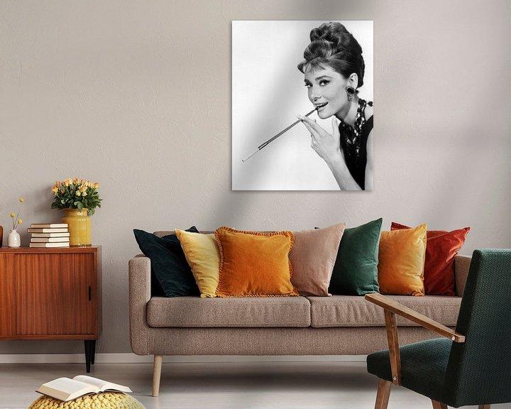 Sfeerimpressie: Audrey Hepburn in de film Breakfast At Tiffany's van Bridgeman Images