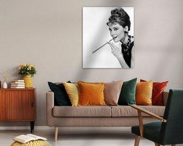 Audrey Hepburn in dem Film Frühstück bei Tiffany's von Bridgeman Images