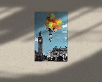 Balloons, 2017, (screen print) van Anne Storno