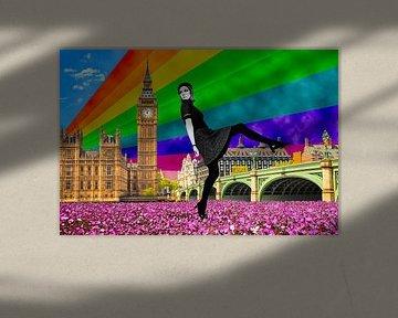 London Pride, 2017, (giclee print) sur Anne Storno
