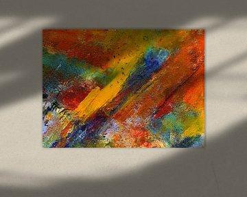 """Abstrakte Malerei """"Temperamentvoll """" von Claudia Gründler"""