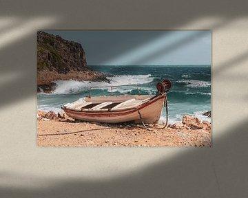 Verlaten bootje van Jimmy van Drunen