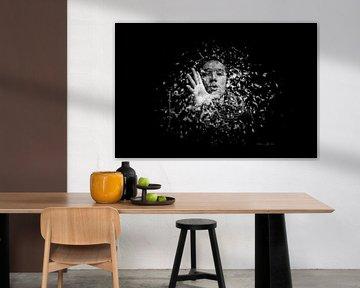Handen en gezichten fotoposter of  wand of muurdecoratiekunst
